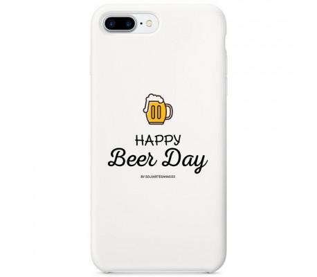 """Carcasa para móvil """"Happy Beer Day"""" (blanca)"""