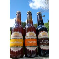 Pack degustación Cerveza Helmántica (Cerveza Plaza Mayor, Univérsitas y Cueva de Salamanca)